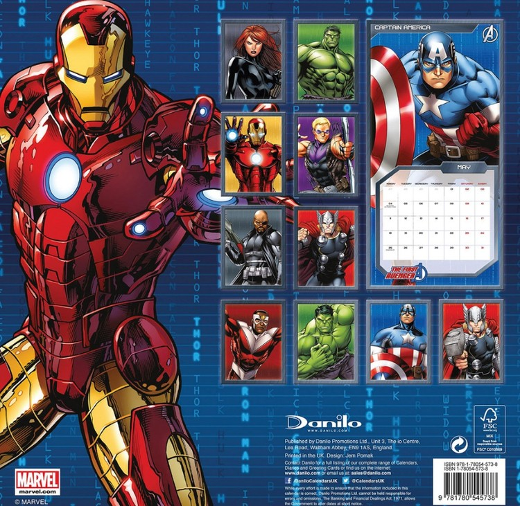 Calendrier Ironman 2021 The Avengers   Wall Calendars | Large selection