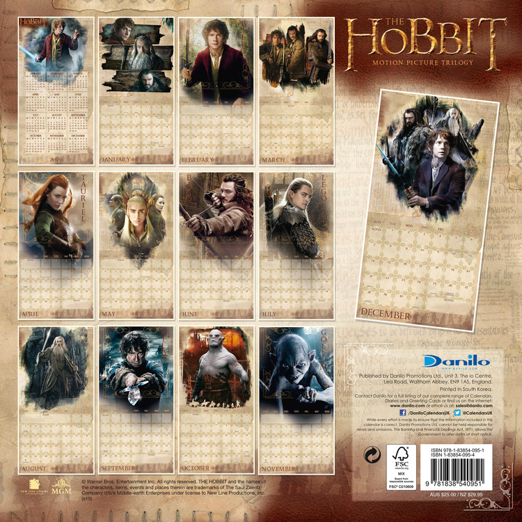 The Hobbit / Lord Of The Rings   Wall Calendars | Large selection