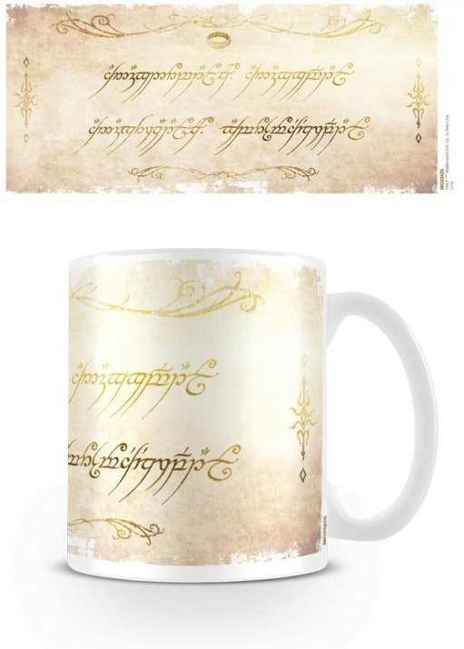 Cup The Lord of the Rings - Ring Inscription