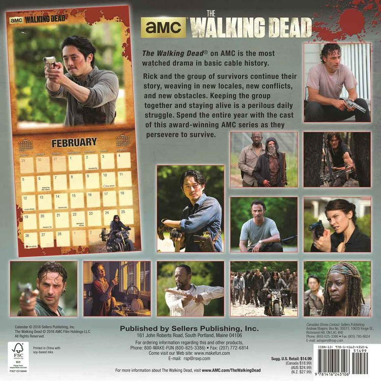 The Walking Dead   Wall Calendars   Large selection