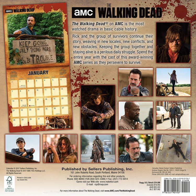 The Walking Dead   Wall Calendars | Large selection