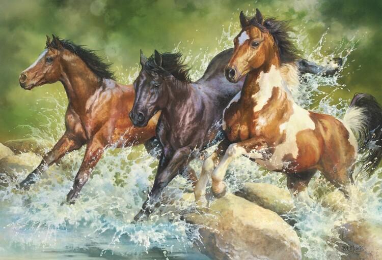 Puzzle Three Wild Horses