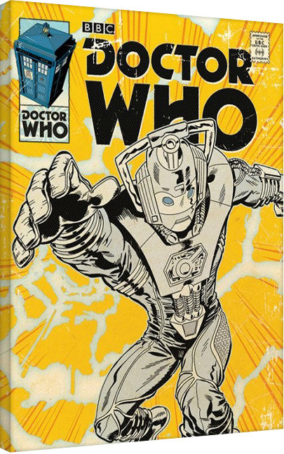 Doctor Who - Cyberman Comic Toile