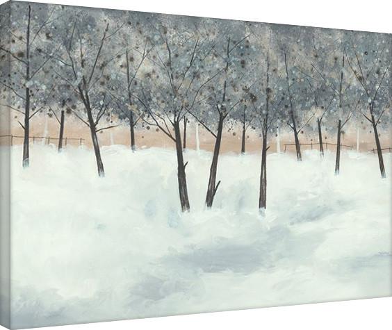Stuart Roy - Silver Trees on White Toile