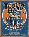 TOOLIN HAND GARAGE Plaque métal décorée