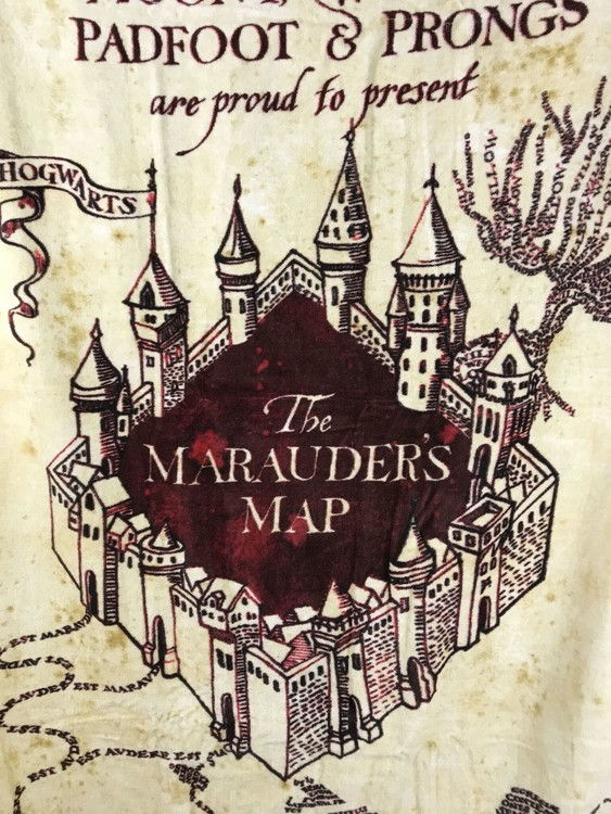 Towel Harry Potter - Marauder's Map