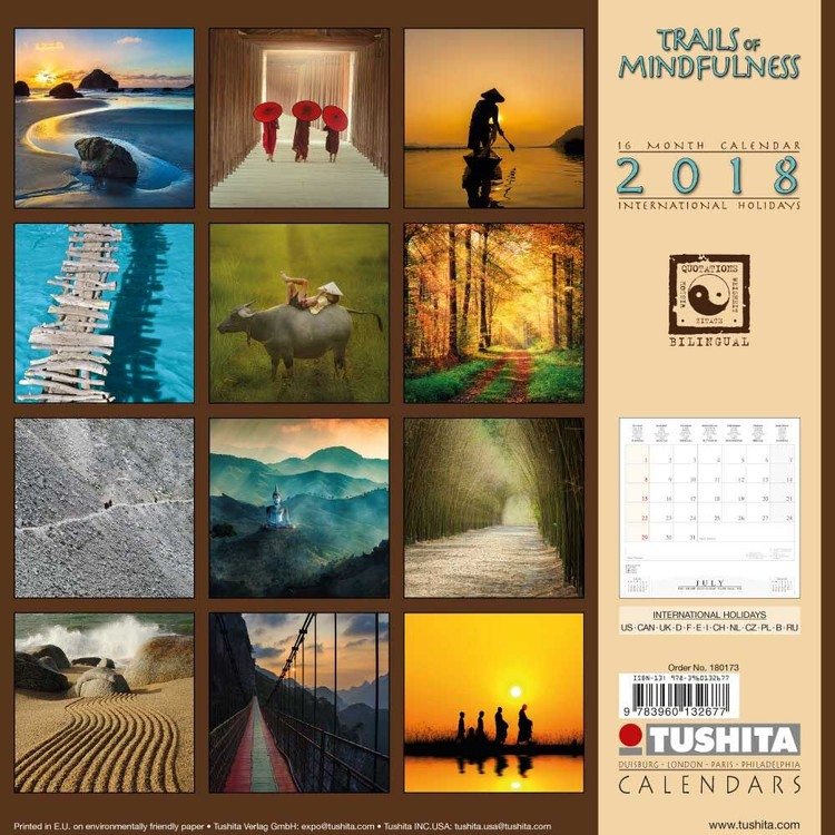 Calendrier Trails 2022 Trails of Mindfulness   Wall Calendars 2022 | Large selection