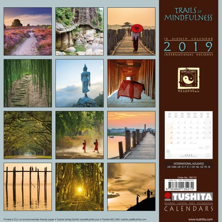 Calendrier Trail 2022 Trails of Mindfulness   Wall Calendars 2022   Large selection