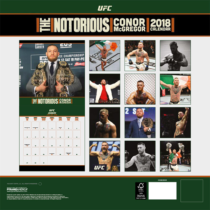 Calendrier Ufc 2021 UFC: Conor McGregor   Wall Calendars | Large selection
