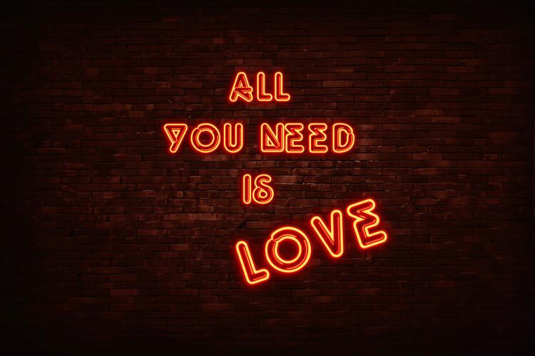 Valokuvatapetti All you need is love