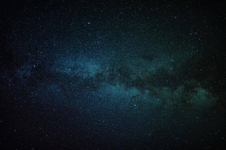 Valokuvatapetti Astrophotography of blue Milky Way II
