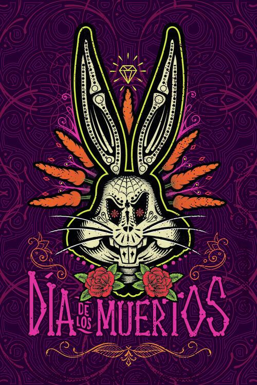 Valokuvatapetti Bugs Bunny - Kuolleiden päivä
