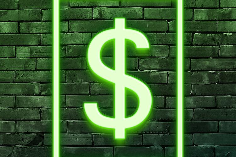 Valokuvatapetti Dollars