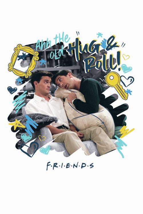 Valokuvatapetti Friends - Hug and Roll!