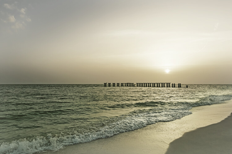 Valokuvatapetti Gasparilla Island Sunset   Vintage