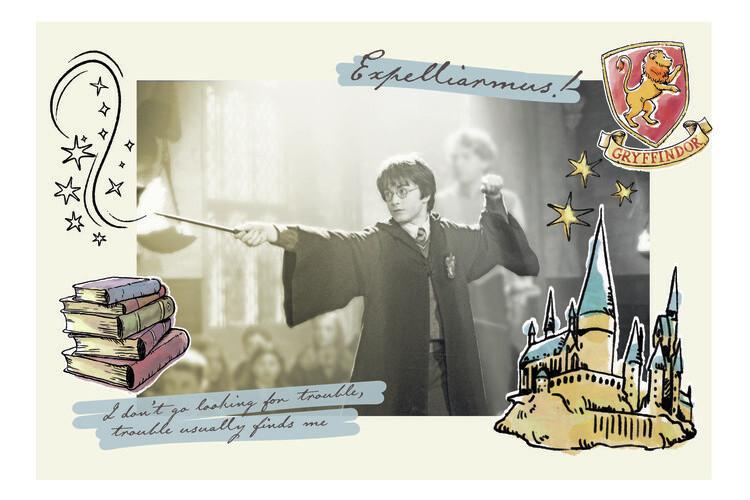 Valokuvatapetti Harry Potter - Expelliarmus