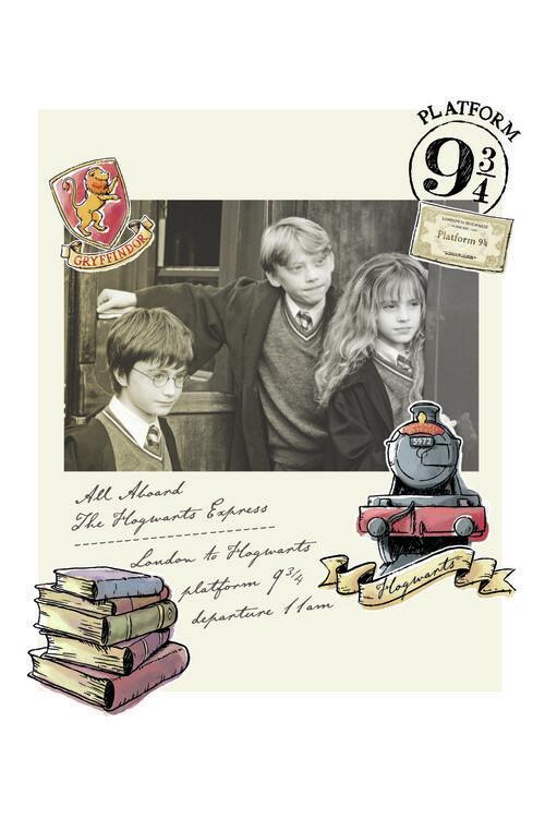 Valokuvatapetti Harry Potter - Hermione, Harry ja Ron