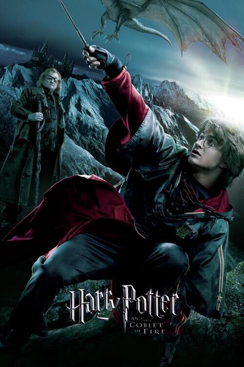 Valokuvatapetti Harry Potter - Liekehtivä pikari - Harry