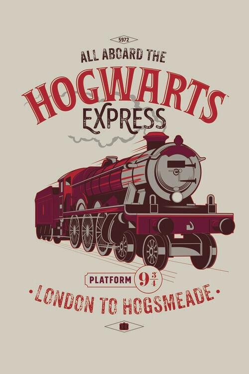 Valokuvatapetti Harry Potter - Tylypahkan pikajuna