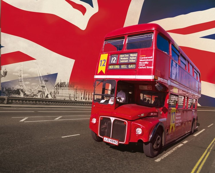 Valokuvatapetti Lontoo - lontoon bussit