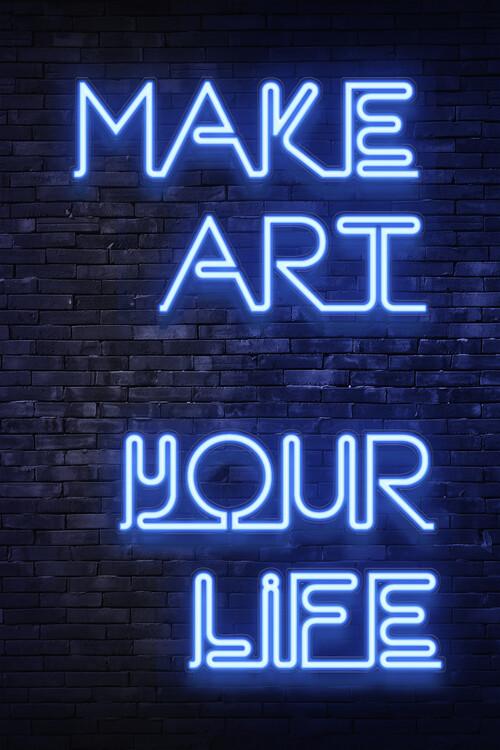 Valokuvatapetti Make art your life