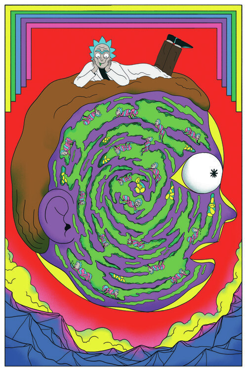 Valokuvatapetti Rick & Morty - Labyrinth
