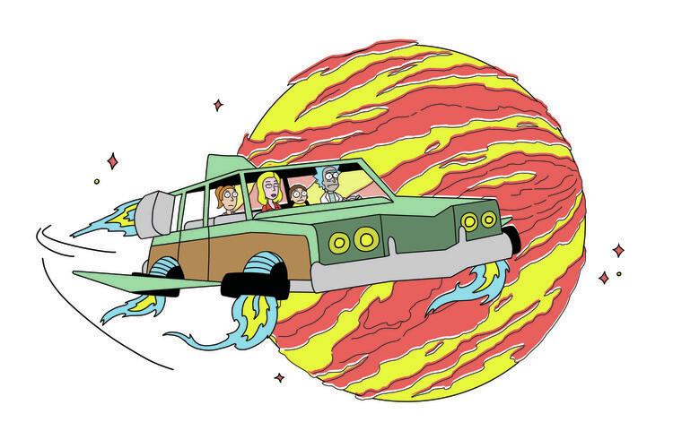 Valokuvatapetti Rick & Morty - Trip