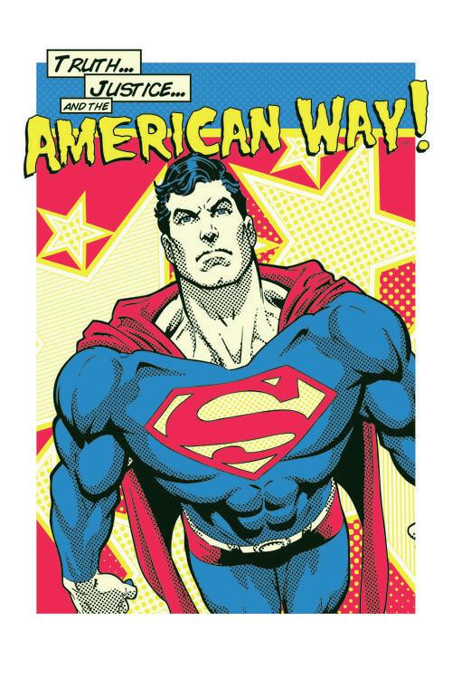 Valokuvatapetti Superman - American Way