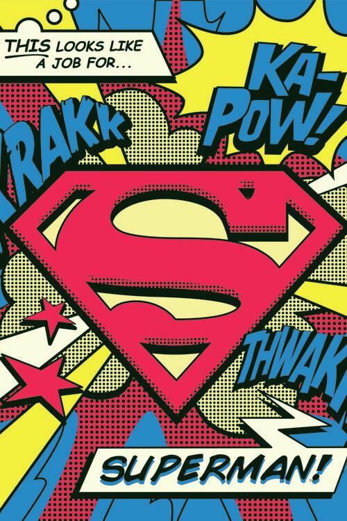 Valokuvatapetti Superman's job