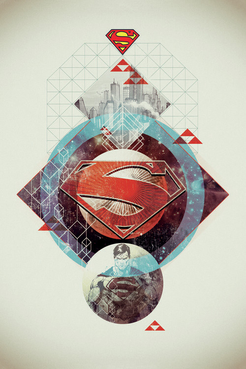 Valokuvatapetti Superman - Stellar Geometry