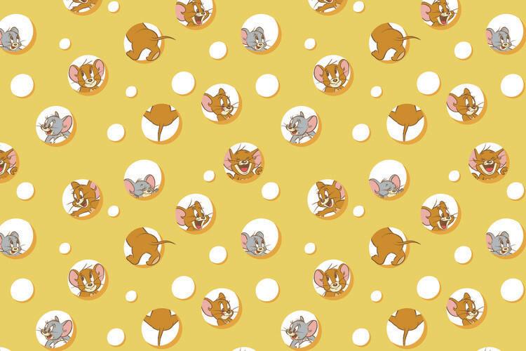 Valokuvatapetti Tom and Jerry - I love Cheese