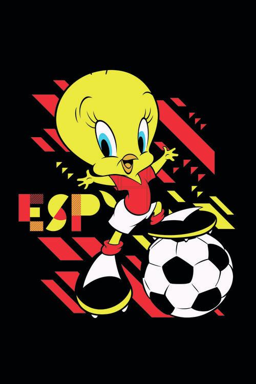Valokuvatapetti Tweety and football