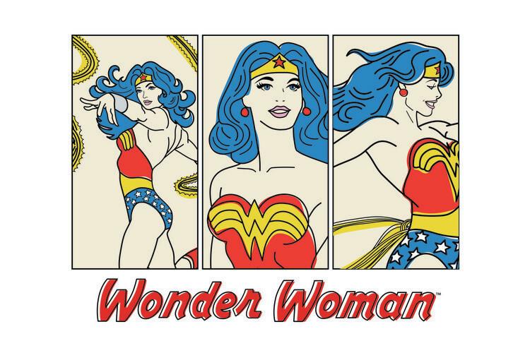 Valokuvatapetti Wonder Woman- Comics
