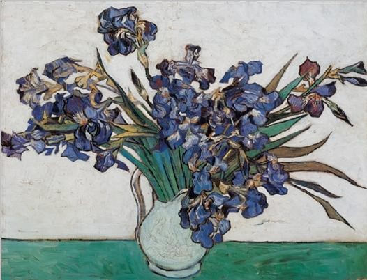 Vase with Irises, 1890 Reproduction d'art