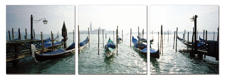 Venice - Port for Gondolas Tableau Multi-Toiles