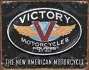 VICTORY MOTORCYCLES Plaque métal décorée