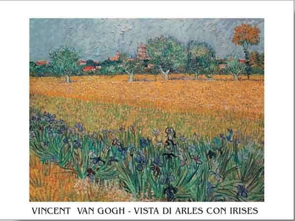 View of Arles with Irises in the Foreground, 1888 Reproduction d'art