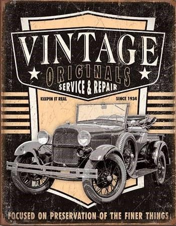 Vintage Originals - Pickup Plaque métal décorée