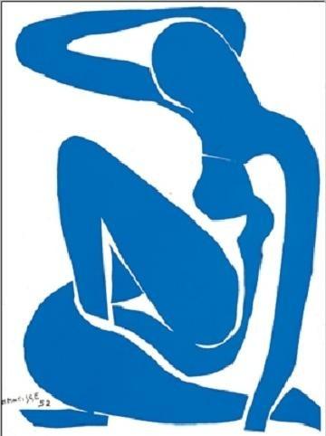 Blue Nude I, 1952 Art Print