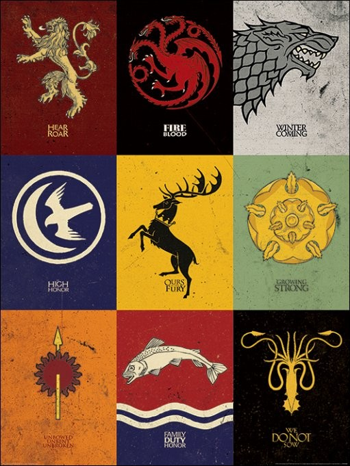 Game of Thrones - Sigils Art Print