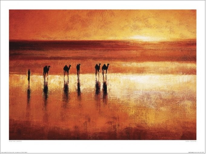 Jonathan Sanders - Camel Crossing Art Print