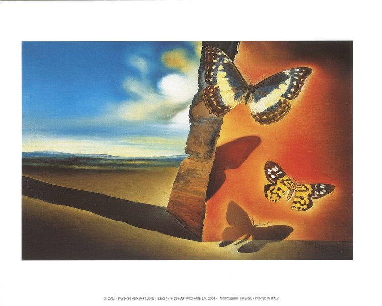 Landscape with Butterflies, 1956 Art Print