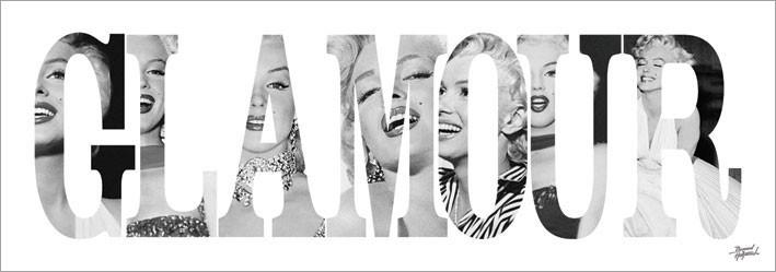 Marilyn Monroe - Glamour - Text Art Print