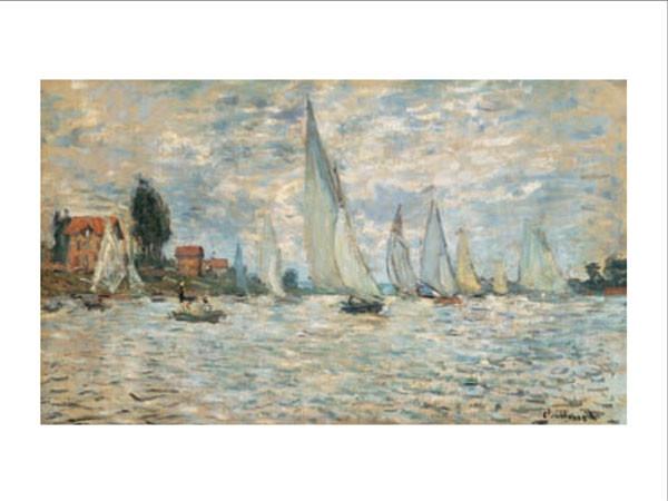 Regattas, Boats at Argenteuil, 1874 Art Print