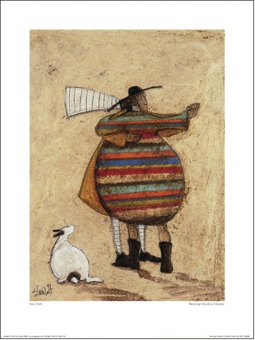 Sam Toft - Dancing Cheek To Cheeky Art Print