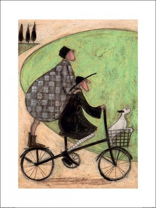 Sam Toft - Double Decker Bike Art Print