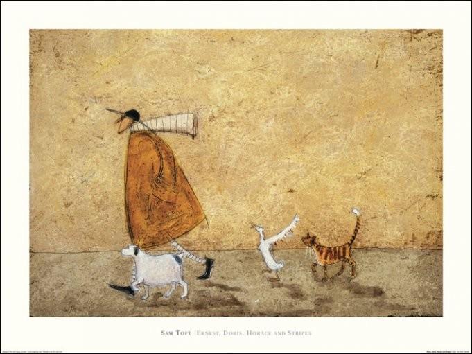 Sam Toft - Ernest, Doris, Horace And Stripes Art Print