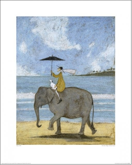 Sam Toft - On The Edge Of The Sand Art Print