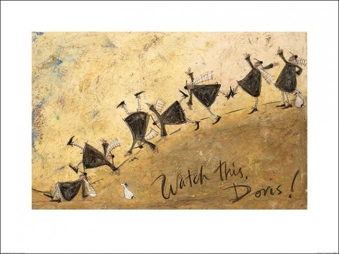 Sam Toft - Watch This, Doris! Art Print