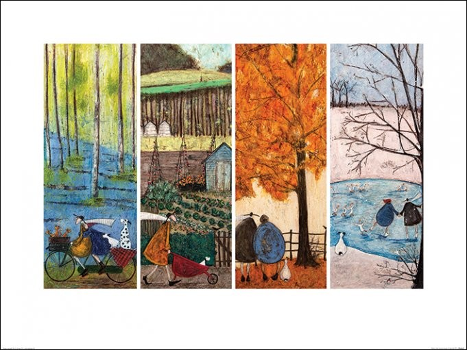 Sam Toft - Which is Your Favourite Season? Art Print